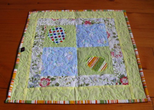 yellow eags easter table runner
