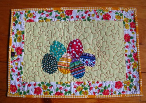 yellow easter table runner
