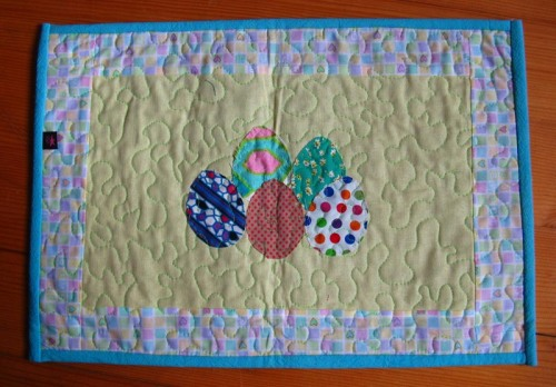 baby blue easter table runner
